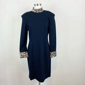 CDC | Animal Print Long Sleeve Dress